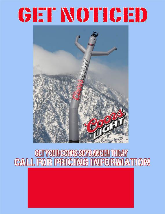 Coors Light Airpuppet