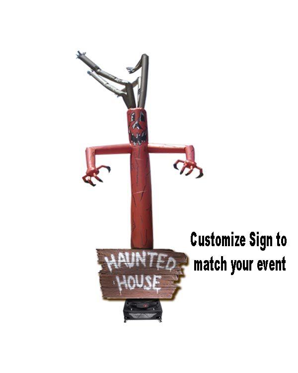 hybrid haunted sign w/ tree adbase