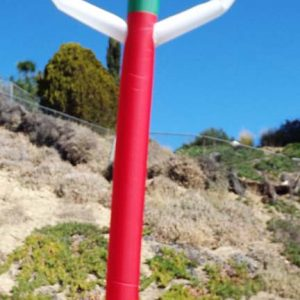 20' Airpuppet red, white & Green